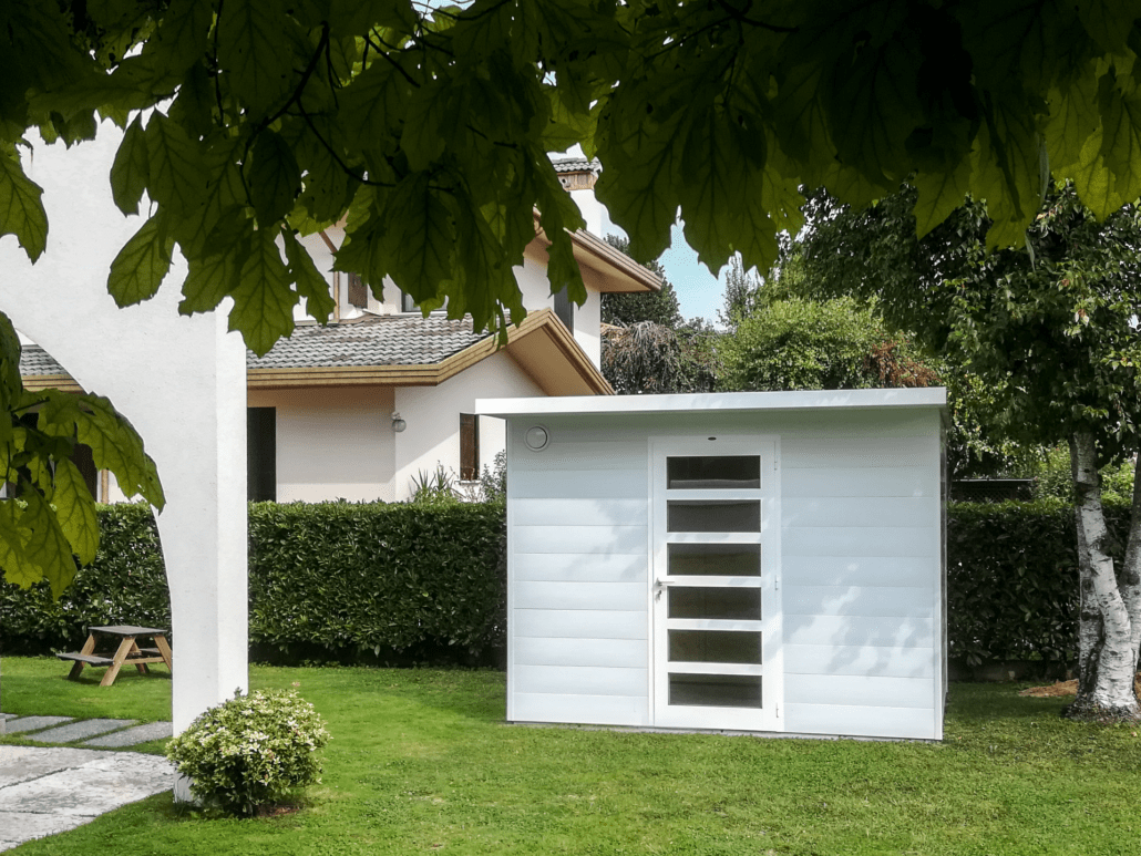 Giardini Per Case Moderne casette da giardino moderne in legno e wpc a noventa, san